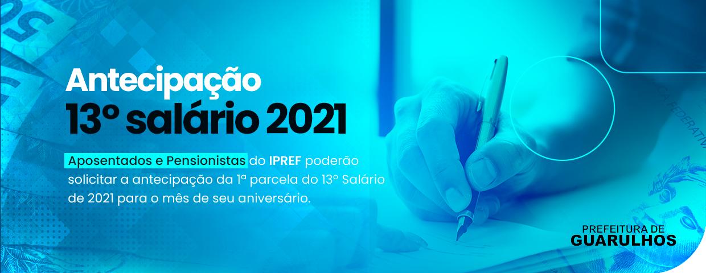 Antecipação 13º salário 2021